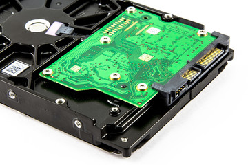Harddisk drive, close up image of device