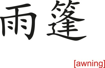 Chinese Sign for awning