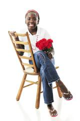 Preteen Sitting Pretty in Jeans