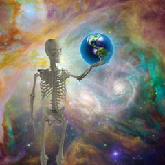 Skelton holds earth