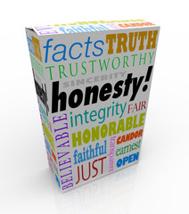 Honesty Sincerity Trustworthy Virtues Reputation Product Box