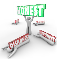 Honest Person Wins Vs Dishonest Competitors Strong Reputation Si