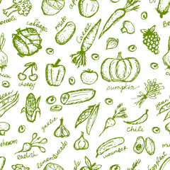 Vegetable seamless pattern for your design