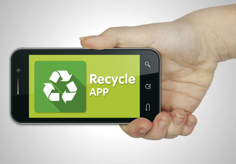 Recycle app. Mobile