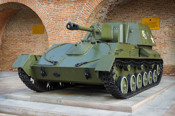 Russia: Self-Propelled artillery mount during the second world