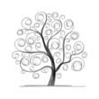 Obrazy na płótnie, fototapety, zdjęcia, fotoobrazy drukowane : Art tree beautiful for your design