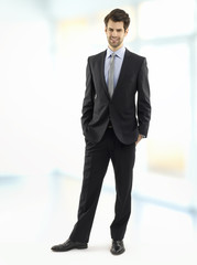 Modern young businessman portrait