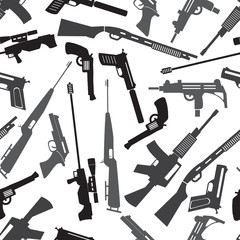firearms weapons and guns seamless pattern eps10