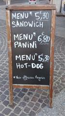 Panneau menu