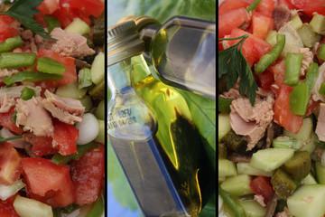 Vinaigrette - Salade de crudités Thon