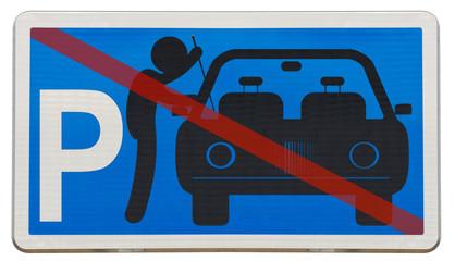 plaque parking sécurisé