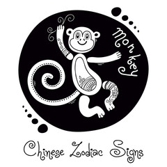 Monkey. Chinese Zodiac Sign