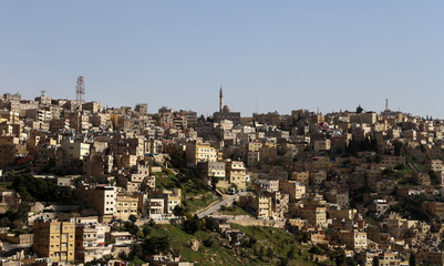 view of Amman's skyline, Jordan