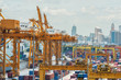 Container Cargo in dock for import export