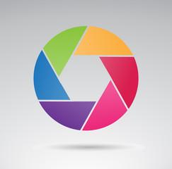 Shutter - creative VECTOR icon.