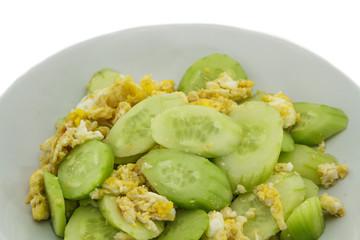 Stir cucumber