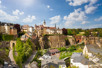 Top view of beautiful Luxemburg city