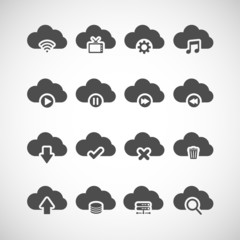 cloud computing icon set, vector eps10