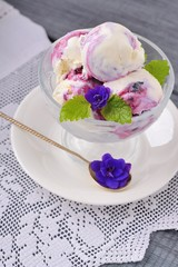 blackcurrant ice cream or dessert