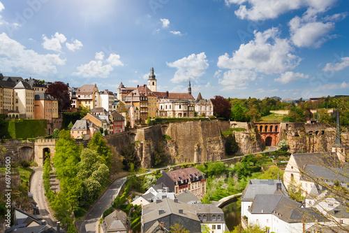 Deurstickers Toscane Top view of beautiful Luxemburg city