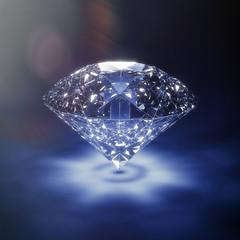 Luxury blue diamond background - with lensflare