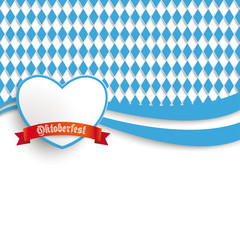 Bavarian Oktoberfest Flyer Heart