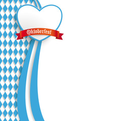Bavarian Oktoberfest Flyer Oblong Colors Heart