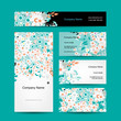 Business cards design, floral style