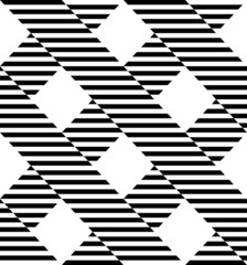 Black and white geometric stripe seamless pattern abstract backg