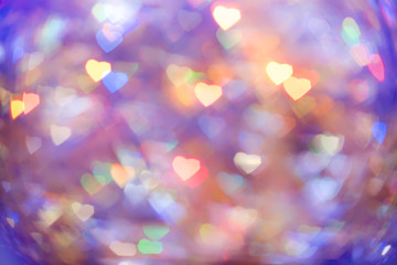 abstract background heart bokeh
