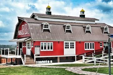 Traditional Vintage Red Farm