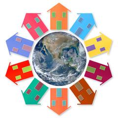 Global village - concept image