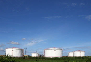 oil tanks on field industry zone