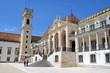 canvas print picture - Via Latina, Turm und Palast des Rektors Coimbra Universität