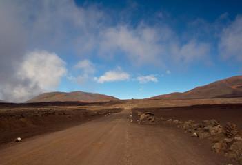 Wandern zum Piton de la Fournaise