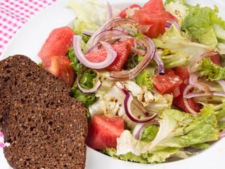 Salat mit Melone