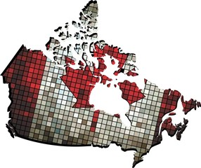 Canadian map grunge mosaic