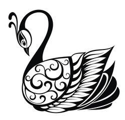 Swan bird silhouette