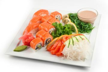Salmon sushi set