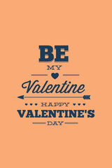 Vector illustration with valentine and