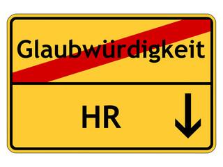 Glaubwürdigkeit des HR
