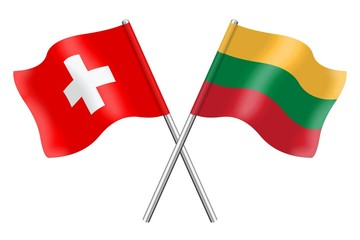 Flags: Switzerland and Lithuania