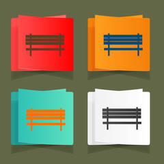 Set of vintage benches for parks and streets