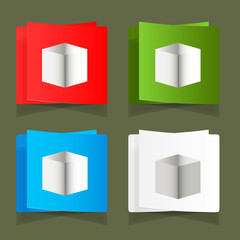 Set of simple square packages for packing