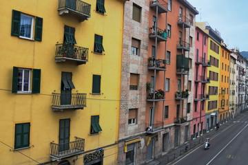 Häuserfront in La Spezia