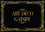 gatsby art deco background poster