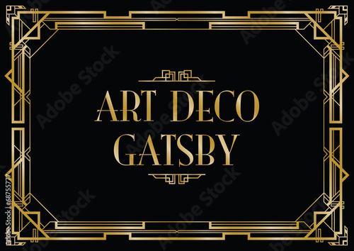 gatsby art deco background - 68755777