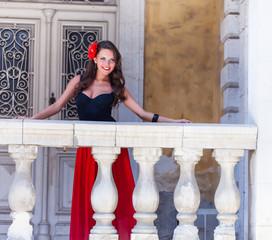 Spanish woman on the balcony