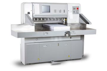 Schneidemaschine Druckerei Isoliert