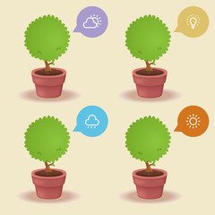 plant lighting needs: Icon concepts